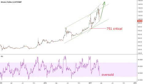 BTCUSD: Bitcoin Looks Cheap Near $950