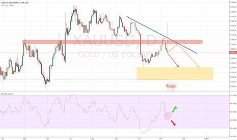 XAUUSD: Gold: Preparing for a fall