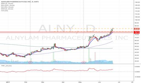 ALNY: ALNY -Flag formation long from & breakout Momentum Long
