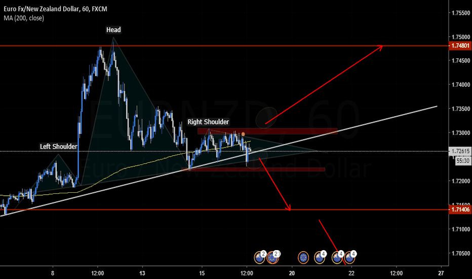 EURNZD: Potential H&S setting up.