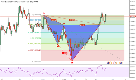 NZDCAD: Cypher with DT at market NZDCAD