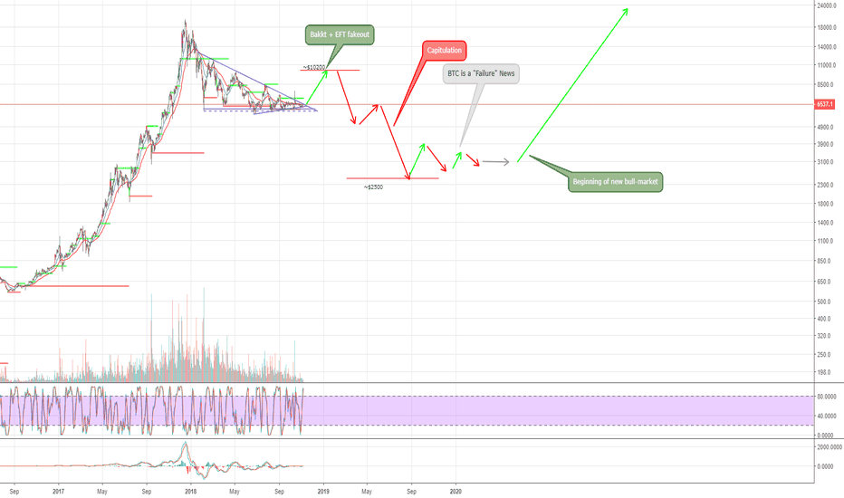 BTCUSD: BTC Fakeout followed by capitulation