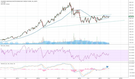 IBB: $IBB Remains in a Channel With Some Momentum to Downside