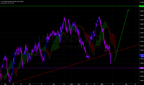 USDCAD: Dollar Making a Last Comeback  - Long  TP 1.36500