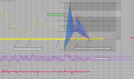 EURNZD: Strong Support, Divergence, Gartley Trade!
