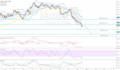 XAUUSD: Important Levels for Gold