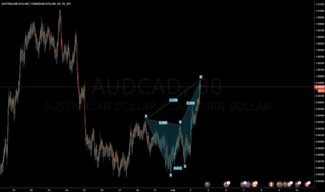 AUDCAD: AUDCAD - A quick butterfly short setup.