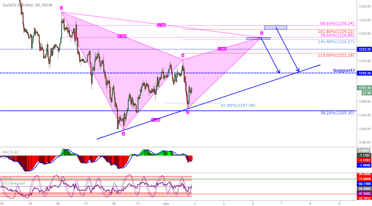 XAU/USD: Gartley or bat?