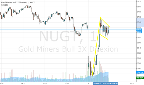 NUGT: Bullish Flag on NUGT