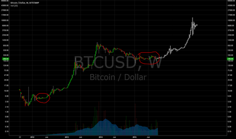 BTCUSD: Bitcoin's Future Shape: $13000 and $120k