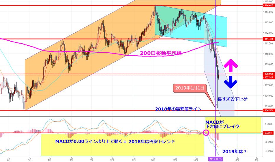 USDJPY: 2019年のドル円は?(はじめてのチャート分析No.20)