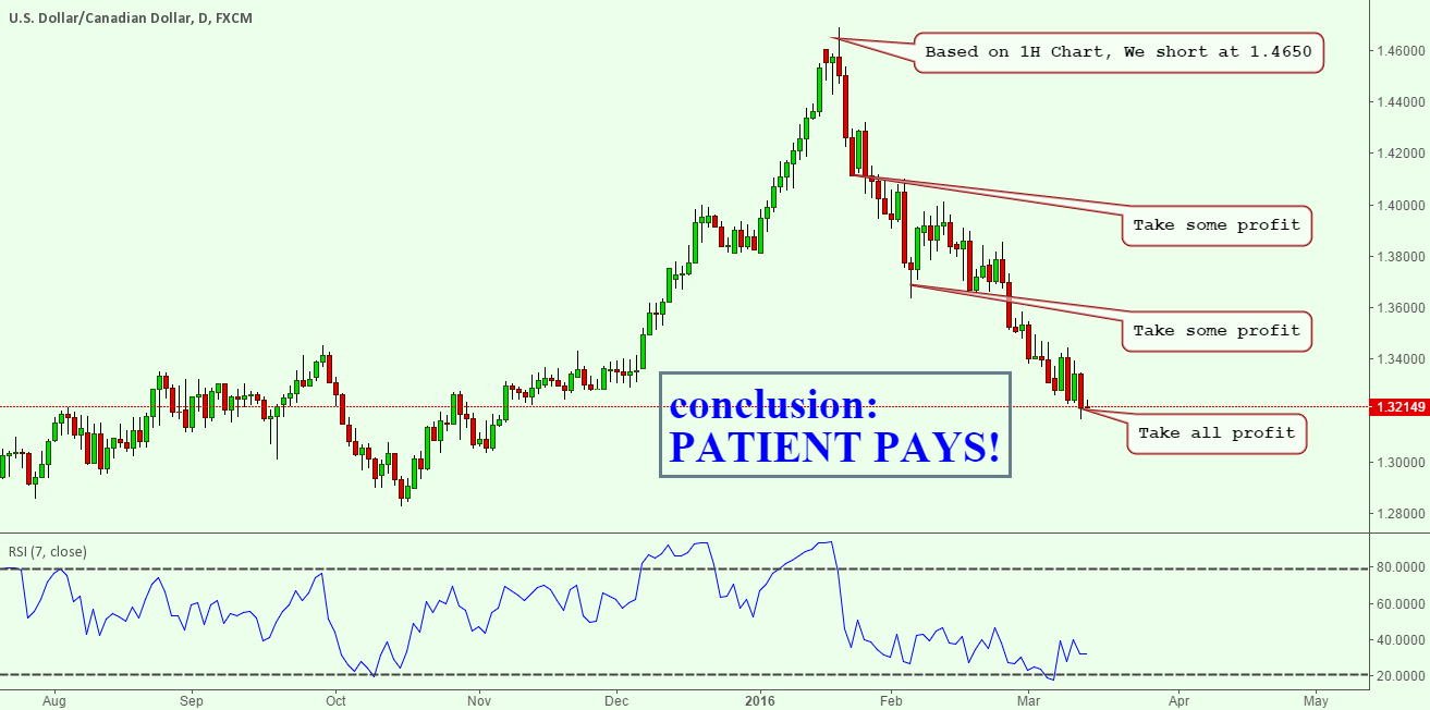 USDCAD Trading Review : Patient Pays