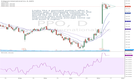 PPO: Bullish continuation pattern on PPO