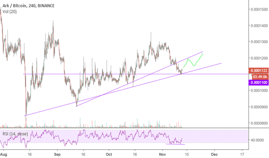 ARKBTC: Fell out of uptrend but double bottom RSI