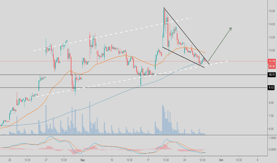 CRON: LONG on CRON - Parallel Channel and Falling Wedge
