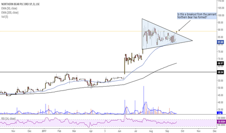 NTBR: Is this a breakout from the pennant Northern Bear has formed?