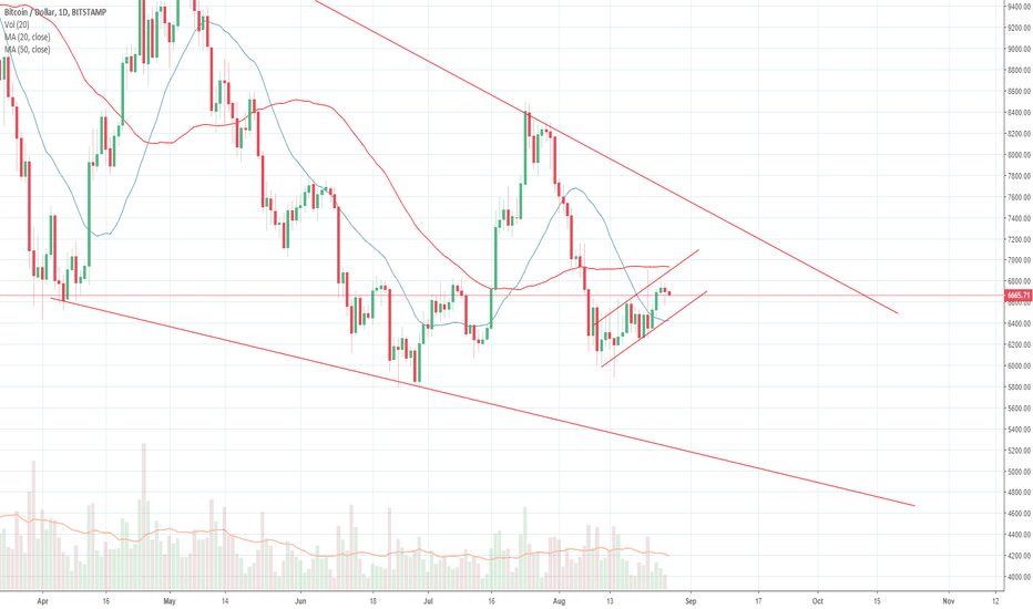 BTCUSD: Bitcoin to decline next week