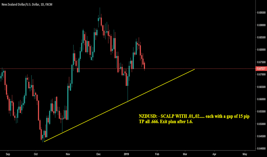 NZDUSD: Pair trading along a up-trend line on Daily time frame