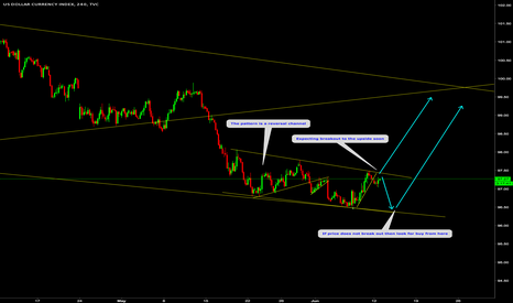 DXY: US DOLLAR INDEX: Buy setup on reversal channel