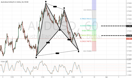 AUDUSD: AUDUSD bull bat pattern