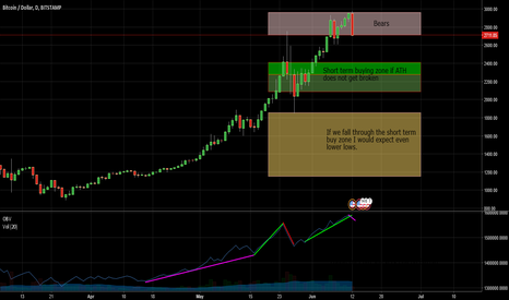 BTCUSD: Thoughts on Recent Bitcoin ATH. Buy the dips.