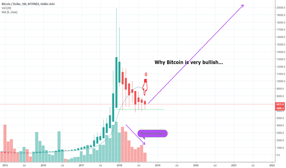 BTCUSD: The Bitcoin bottom is in on the monthly chart??