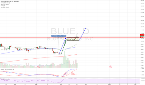 BLUE: Bull flag breakout