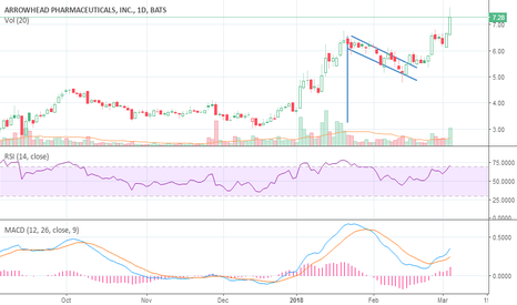 ARWR: breakout up from flag