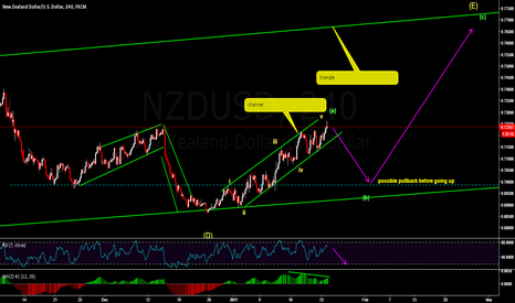NZDUSD: short  the break of channel (wave b)
