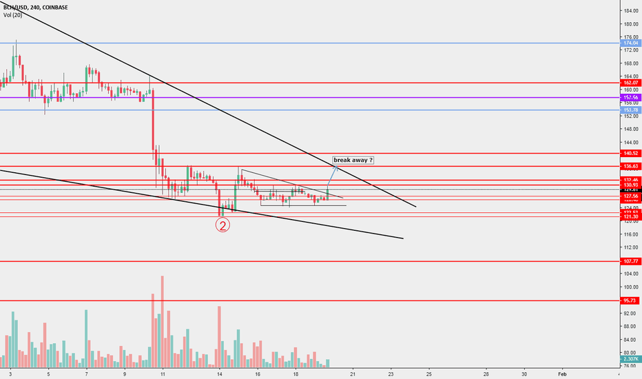 BCHUSD: BCH/USD. Isolation in Big falling wedge pattern