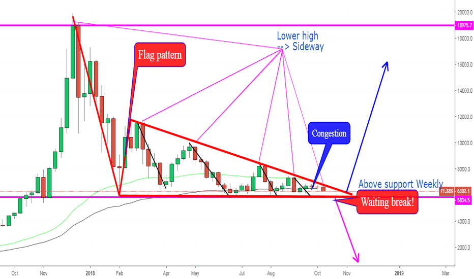 BTCUSD: BTCUSD, Analysis pattern On W1: Long term.