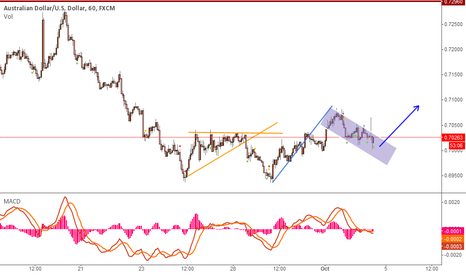 AUDUSD: Bull flag, and ready to go up
