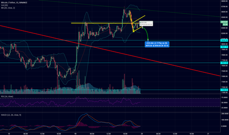 BTCUSDT: bearish flag!
