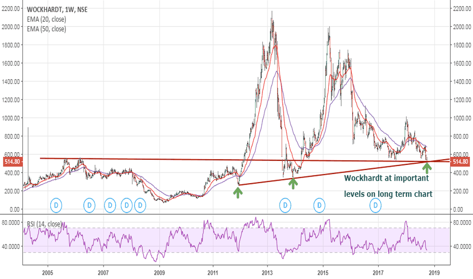 WOCKPHARMA: Wockhardt at important levels on long term charts
