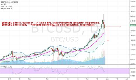 BTCUSD: Vente Bitcoin Target 1200$