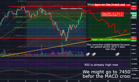BTCUSD: BTC Correction Might Be In The Way