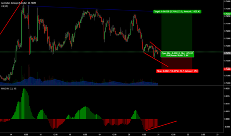 AUDUSD: Divergence at support