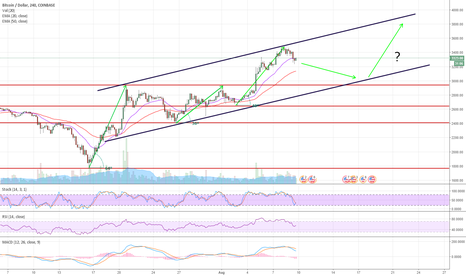 BTCUSD: Upper $3000's by the end of August
