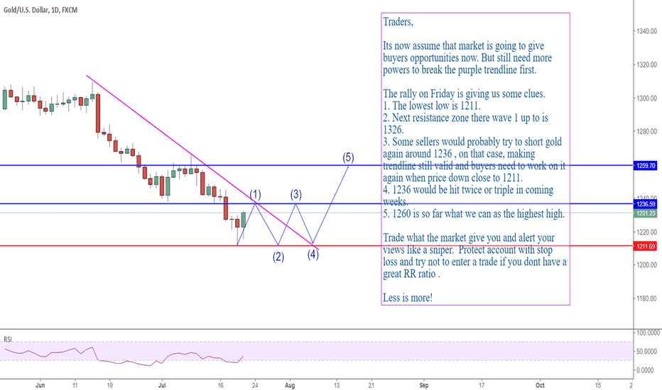 XAUUSD: Gold: 1236 will be hit twice or triple in the coming weeks