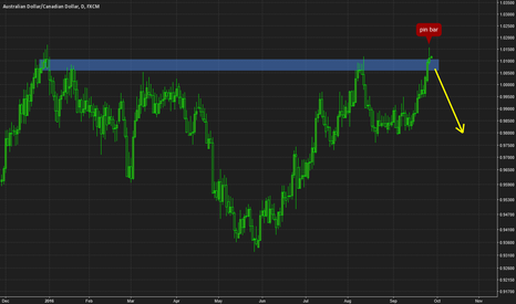 AUDCAD: AUDCAD pin bar