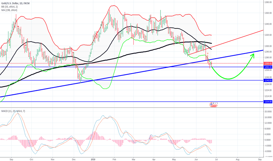 XAUUSD: Possible rebound level
