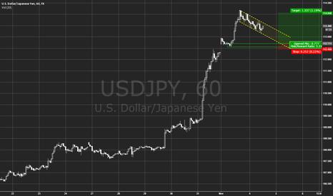 USDJPY: USD/JPY - bull flag