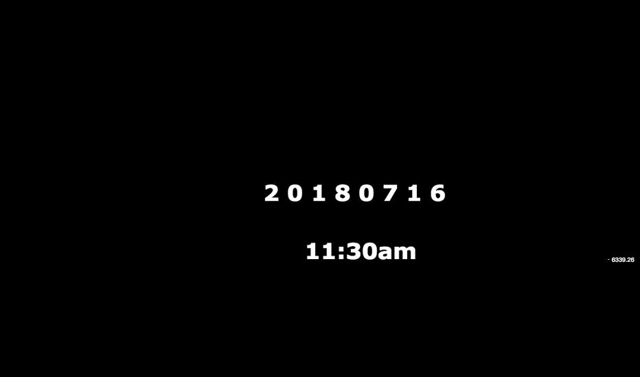 BTCUSD: K A N T 180716 11:30am / 현재 비트코인 시황 및 분석 / 유효 포인트 / 매매전략,대응방법