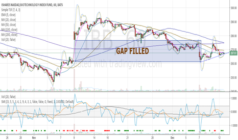 IBB: IBB - Gap Filled, can move higher now
