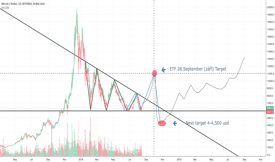 BTCUSD: 1. Prediction by a warrior of truth. (BTC)
