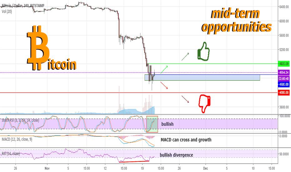 BTCUSD: Bitcoin condition after a strong fall