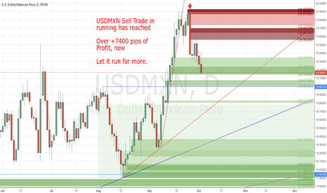 USDMXN: My Sell Trade over +7500 pips of profit until now.