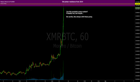 XMRBTC: $XMR - The end of the parabolic pump?