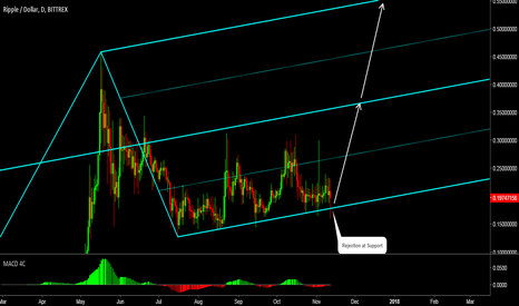 XRPUSD: Ripple: Rejection at Support Level