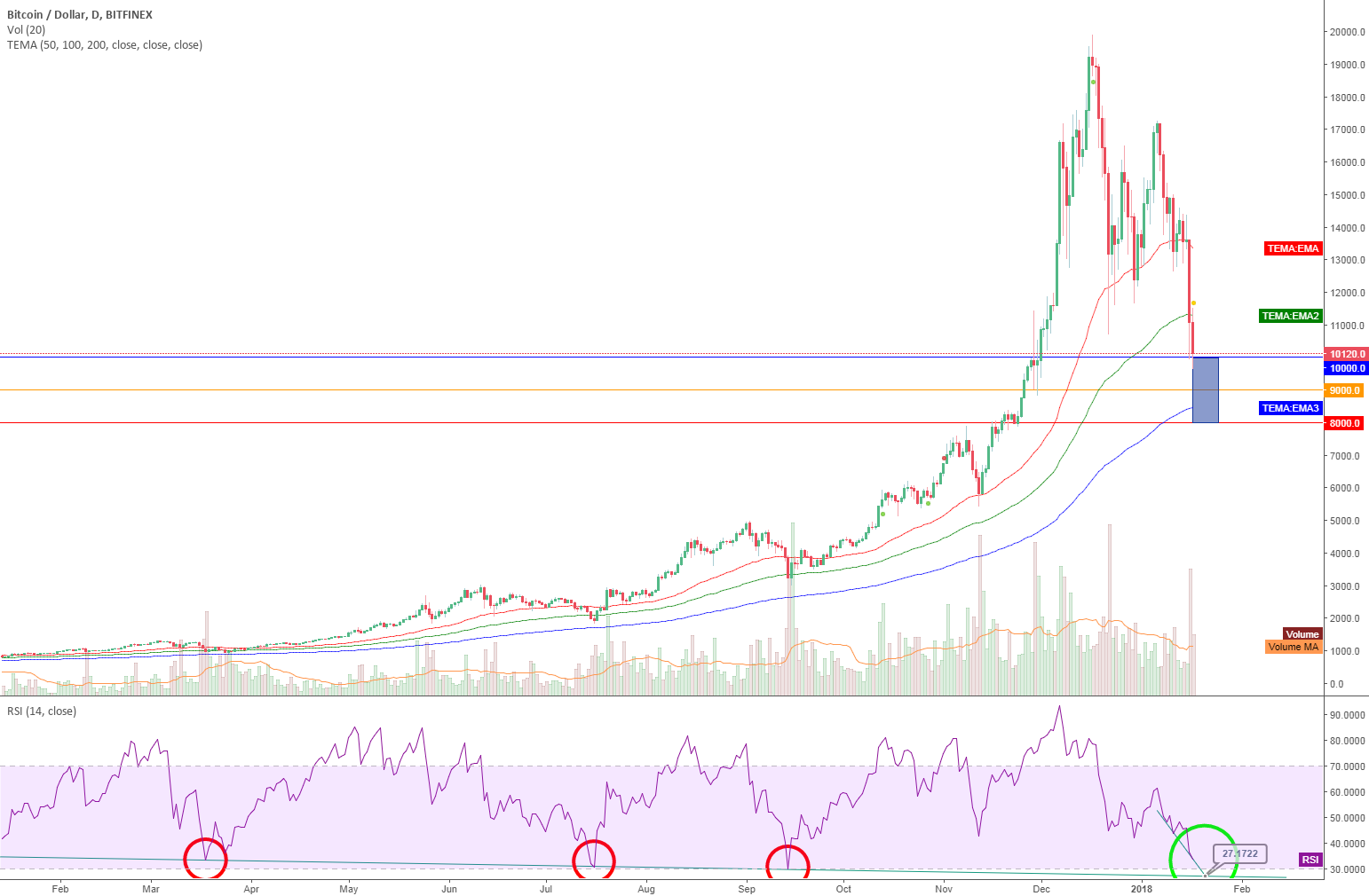 Bitcoin and the RSI history